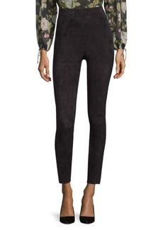 Alice + Olivia Maddox High-Waist Side Zip Skinny Pants