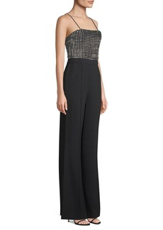 Alice + Olivia Mannie Crystal Embellished Jumpsuit