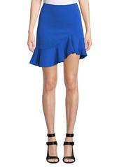Alice + Olivia Marcella Asymmetrical Ruffle Skirt