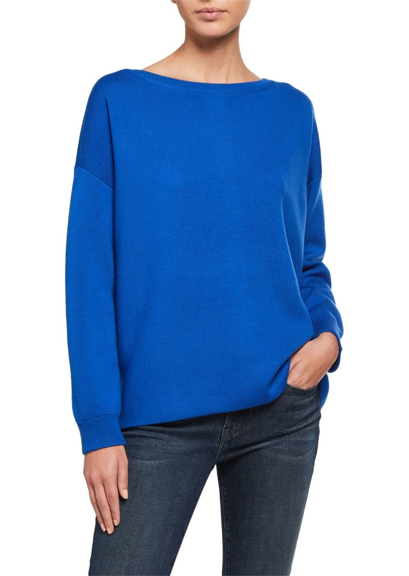 Alice + Olivia Marmont Back-Zip Tunic  Sweater