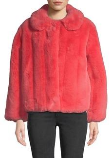 Alice + Olivia Martel Faux-Fur Jacket