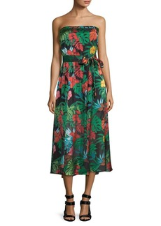 Alice + Olivia Mazie Strapless Midi Dress