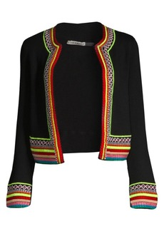 Alice + Olivia Meemee Embroidered Cardigan