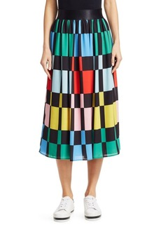 Alice + Olivia Melda Gathered Midi Skirt
