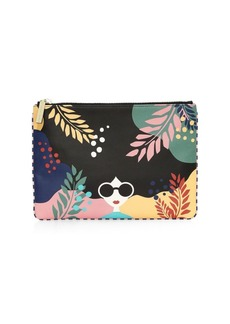 Alice + Olivia Melody Leather Clutch