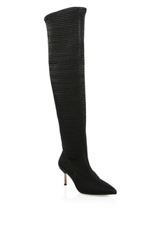 Alice + Olivia Merna Woven Knee-High Boots
