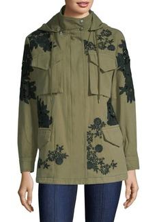 Alice + Olivia Meta Embroidered Oversized Jacket