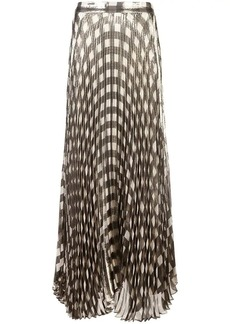 Alice + Olivia metallic check pleated skirt