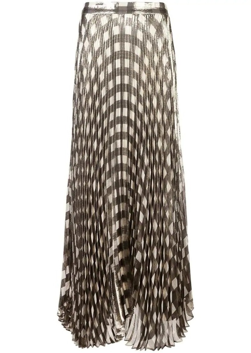 a02101549e Alice + Olivia metallic check pleated skirt | Skirts