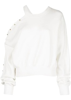 Alice + Olivia Michael open-shoulder sweatshirt
