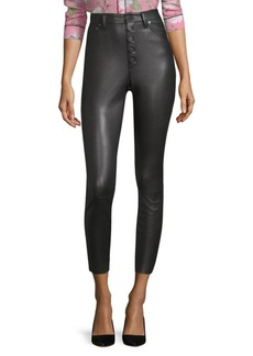 Alice + Olivia Mikah High-Rise Leather Leggings