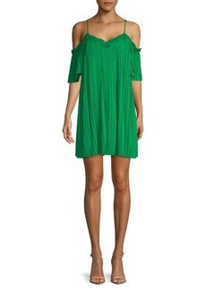 Alice + Olivia Mimi Cold-Shoulder Shift Dress