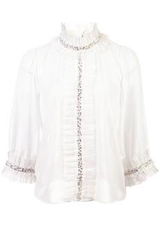 Alice + Olivia Mira ruffled blouse