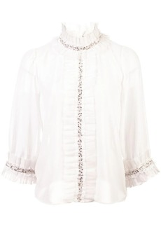 Alice + Olivia Mira ruffled blouse
