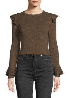 Alice + Olivia Mittie Pullover with Ruffles