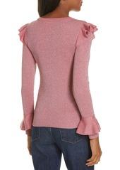 Alice + Olivia Mittie Ruffled Sweater