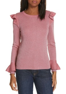 Alice + Olivia Mittie Ruffled Sweater