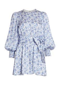 Alice + Olivia Molli Floral Tie Waist Wrap Dress