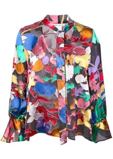 Alice + Olivia Mora tie neck blouse