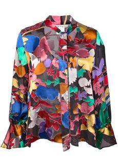 Alice + Olivia Mora tie neck blouse