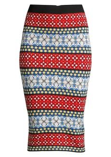 Alice + Olivia Morena Print Pencil Skirt