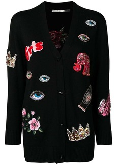 Alice + Olivia multi-patch cardigan