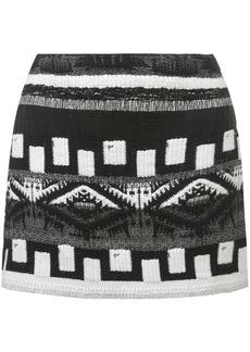 Alice + Olivia multi-pattern skirt