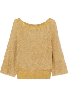 Alice + Olivia Nakita Ribbed Lurex Sweater