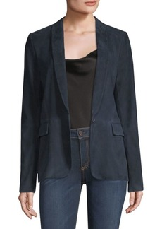 Alice + Olivia Nancy Shawl Collar Suede Blazer