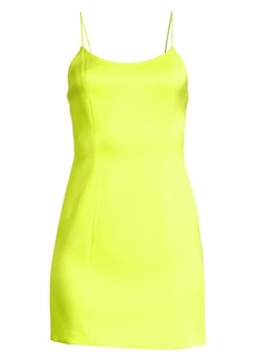 Alice + Olivia Nelle Neon Mini Dress