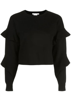 Alice + Olivia Nettie ruffle sleeve jumper