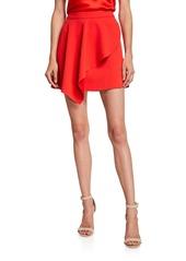 Alice + Olivia Nicky Asymmetric Draped Mini Skirt