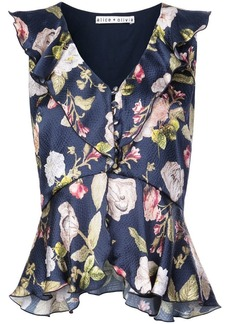 Alice + Olivia Nora floral print blouse