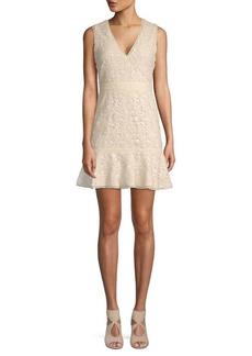 Alice + Olivia Onella Lace Cotton A-Line Dress