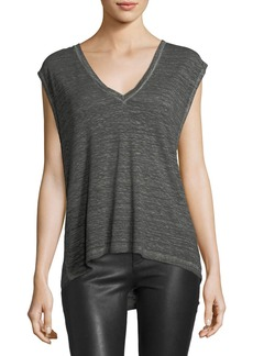 Orlando V-Neck Top with Draped Open Back