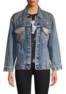 Alice + Olivia Oversized Denim Jacket
