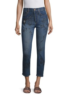 Alice + Olivia Painted High Rise Jeans