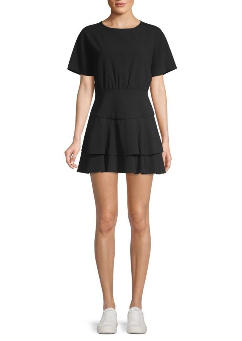 Alice + Olivia Palmira Flounce Hem Mini Dress