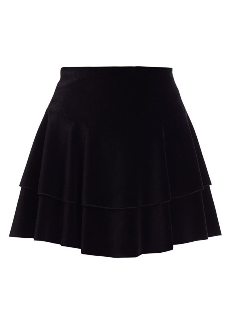 Alice + Olivia Paloma Ruffle Mini Skirt