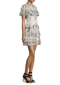 Alice + Olivia Paola Ruffle Mini Dress