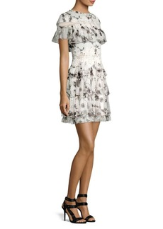 Alice + Olivia Paola Ruffle Mini Dress