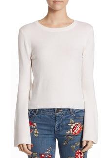 Alice + Olivia Parson Crewneck Bell-Sleeve Pullover