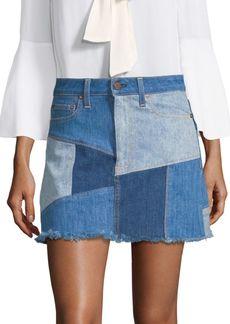 Alice + Olivia Patchwork Mini Skirt