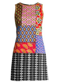 Carla Kranendonk X Alice + Olivia Clyde Patchwork Shift Dress