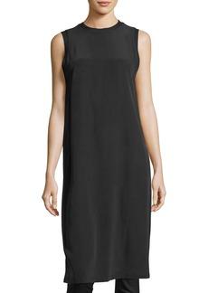 Alice + Olivia Patsy Crewneck Sleeveless Silk Tunic Dress