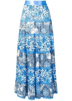 Alice + Olivia patterned maxi skirt
