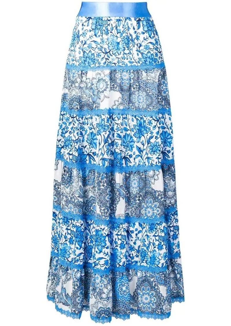 Alice + Olivia patterned maxi skirt