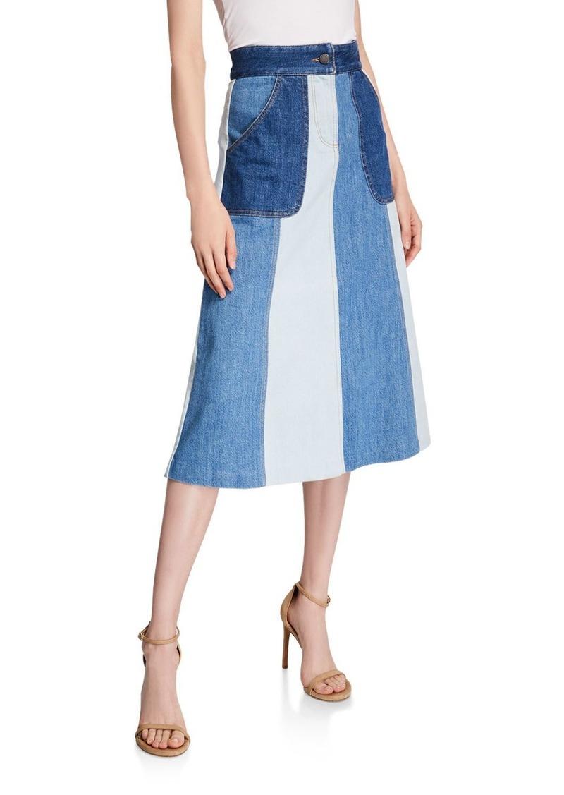 Alice + Olivia Peri Midi Skirt with Pockets