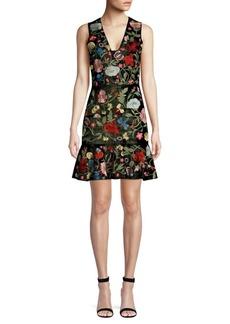 Alice + Olivia Peyton Embellished Fit-&-Flare Dress