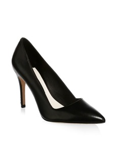 Alice + Olivia Point Toe Leather Pumps